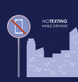 no texting while driving campaign vector image vector image