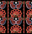 ornamental paisley seamless pattern vector image vector image