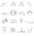 physics outline simple icons set eps10 vector image vector image