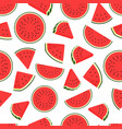 piece watermelon pattern seamless watermelons vector image