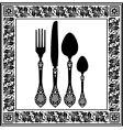 retro cutlery vector image vector image
