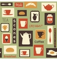 Retro pattern with kitchen dishes for breakfast vector | Price: 1 Credit (USD $1)