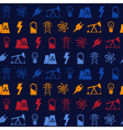 Seamless background with energy and power icons vector image