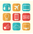 set paper creative icons vector image vector image