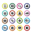 Shopping flat color icons set 04 vector image vector image