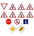 Signs of priority vector image vector image