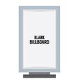 Single Blank Advertising Billboard Isolated On vector image vector image