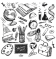 Sketch Doodles Back To School Background vector image