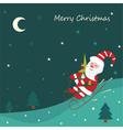 Sledding Santa vector image