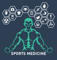 sports medicine logo icon design vector image vector image