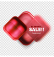 square shape sale button label tag vector image vector image