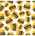 Steak burgers seamless pattern background vector image vector image