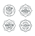 Vapor bar and vape shop labels vector image vector image