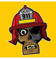 zombie head - fire fighter vector image vector image