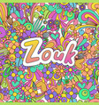 zouk zen tangle doodle dance background with vector image vector image