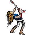 rocker guitarist solo vector image
