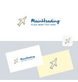 aeroplane logotype with business card template vector image vector image