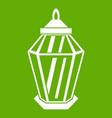 arabic lantern icon green vector image vector image