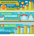 Architecture - Real estate - creative banne vector image vector image