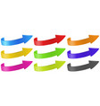 arrows in different colors vector image