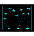Attack of Space Invaders vector image vector image