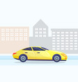 automobile passing city car on street in town vector image vector image