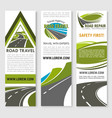 banners of road safety construction company vector image vector image