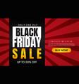 black friday sale banner layout design vector image vector image