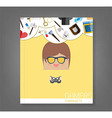 book cartoon doodle man rectangle play games vector image vector image
