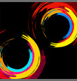 brush stroke colorful circles for your design vector image vector image