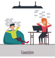 business coworking office vector image