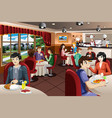 business people having lunch together vector image