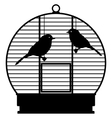 Cage with birds vector image vector image