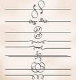 calligraphic design elements page dividers vector image