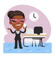 cartoon businesswoman talking on phone vector image