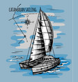 catamaran sailboat regatta summe vector image vector image