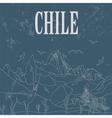 Chile landmarks Retro styled image vector image