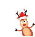 christmas reindeer in christmas hat cute and vector image