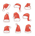 christmas santa claus red hat noel isolated vector image