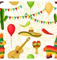 cinco de mayo mexican festive seamless pattern vector image vector image