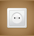 Closeup of electrical outlet vector image vector image