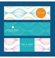 colorful horizontal ogee horizontal banners vector image