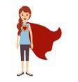 colorful image caricature full body super hero vector image vector image