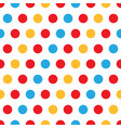 colorful polka dots on white background vector image vector image