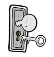 comic cartoon key and keyhole vector image