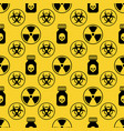 danger seamless pattern on yellow background vector image