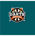 darts world cup emblem vector image vector image