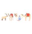 desert symbols arab emirates - arabian oryx vector image vector image