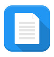 Document app icon with long shadow vector image vector image