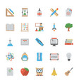 education flat icons set vector image vector image